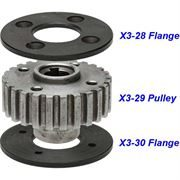 X3 Gearbox Layshaft Pulley Assembly (OLD Style)