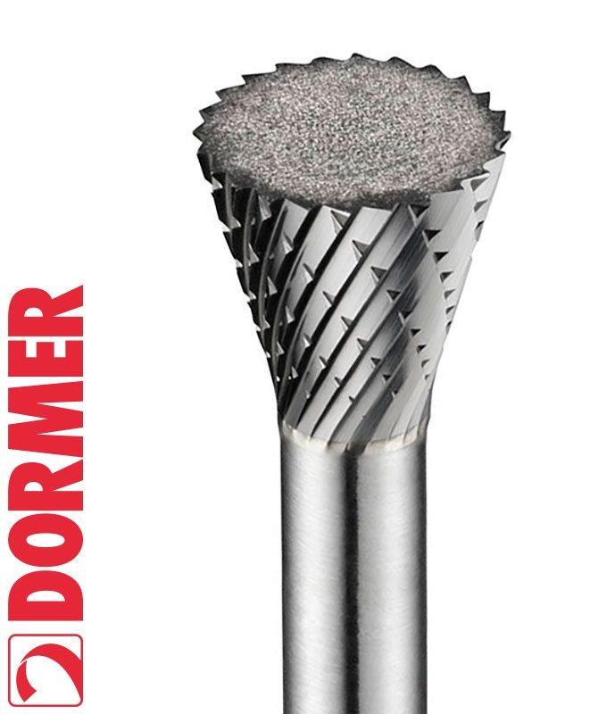 Dormer P825 Carbide Burrs - Inverted Cone