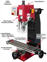 SIEG SX2.7 HiTorque Mill - Belt Drive with Brushless Motor