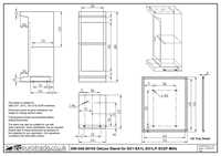 Deluxe Stand for SIEG SX1 - Drawing