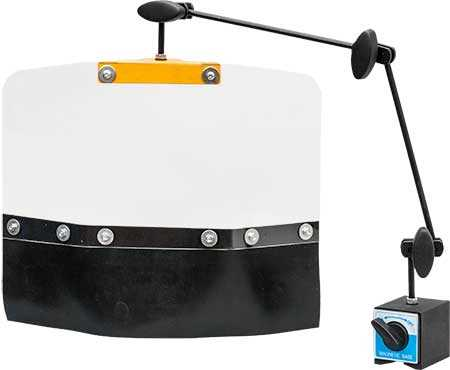 Safety Shield with Rubber Guard - 60kg Pull Magnetic Stand