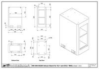 Deluxe Stand for X2.7 and SX2.7 Mills - Cupboard Only - Drawing 1