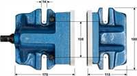 Two Piece Milling Vice 6in Dimensions