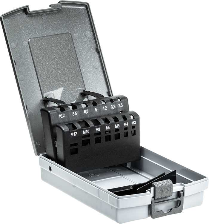 Deluxe Plastic Case for Metric Taps and Tapping Drills M3-M12