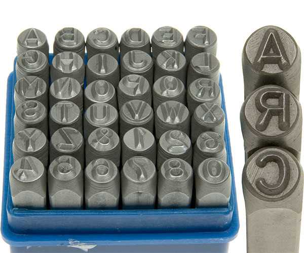 Letter and Number Stamping Sets