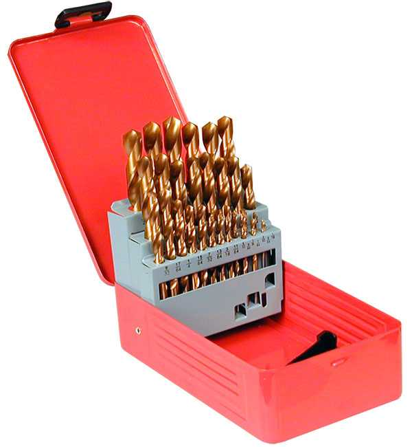 """HSS TiN Coated Drill Bits 29pc Imperial Set - 1/16""""-1/2"""""""