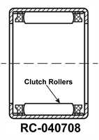 RC040708 Drawn Cup Needle Roller Clutch