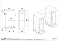 Deluxe Stand for SC4-510 Lathe Drawing 1