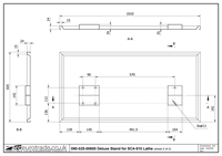 Deluxe Stand for SC4-510 Lathe Drawing 2