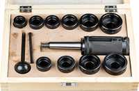 MT2 Tailstock Die Holder Set with Metric and Imperial Die Holders