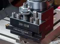 Model 100 'Slim' Tool Holder fitted with a 10x10mm indexable tool