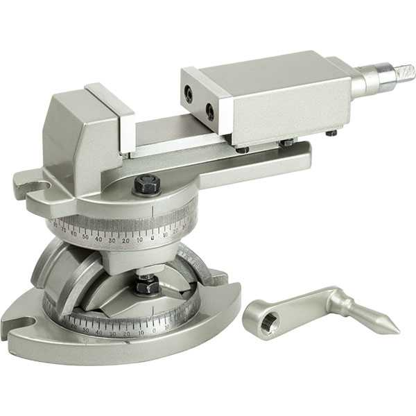 50mm Radial Tilt & Swivel Milling Vice with T-Slotted Table